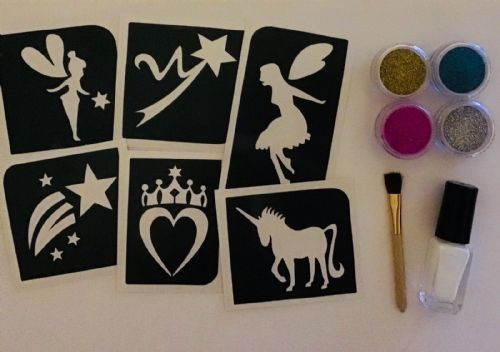 GLITTER TATTOO KIT FAIRY/UNICORN THEME